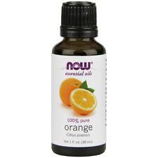 NOW FOODS 100% PURE Orange Oil 1oz (30 ml) Citrus sinensis Make In USA FRESH