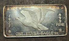 1971 One Ounce 1oz Silver Bar Ingot Eagle Design .999 Fine Pure