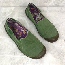 Keen womens green dill slip-on loafer outdoor shoes 9 canvas floral interior
