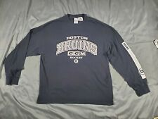 CCM NHL Boston Bruins Long Sleeve Black and White Shirt XL