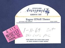 "Barbara Cook ""SHE LOVES ME"" Jack Cassidy 1964 Broadway Closing Night Ticket Stub"