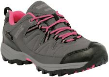 Regatta Holcombe Low Junior Walking Shoes Grey Waterproof Sole Kids Hiking Boots