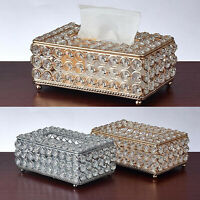 Shiny Tissue Box Elegant Napkin Holder for Restauant Living Room Hotel Decor