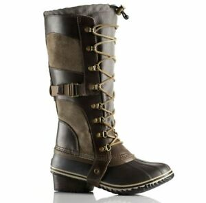 Sorel Womens Size 8 Conquest Carly Boot Brown Riding Farm Boot NL2033-208