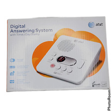 New AT&T 1740 Digital Answering System With Time and Day Stamp White Energy Star