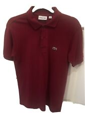 Marooon/Dark Red Lacoste Classic Fit Polo Shirt Size 2/xs. Excellent Condition