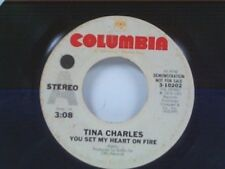 "TINA CHARLES ""YOU SET MY HEART ON FIRE / FIRE (INSTRUMENTAL)"" 45 PROMO"