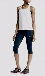 Womens Nike Epic Capri Tights BLACK Training Running GYM Yoga Ltd Edtn S M L XL