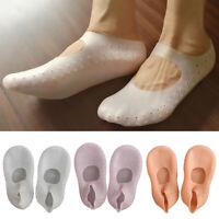 FP- 1Pair Silicone Moisturizing Gel Heel Socks Cracked Foot Skin Care Protector
