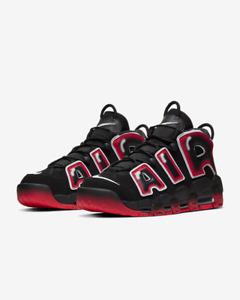 NEW Men's Nike Air More Uptempo '96 Black White Laser Crimson CJ6129-001