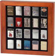 ROSEWOOD CUPBOARD CABINET DISPLAY BOX CASE for 20 ZIPPO LIGHTERS * NEW *