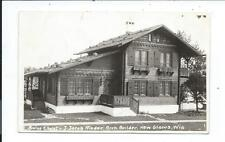 Real Photo Postcard Post Card New Glarus Wisconsin Wis Wi Jacob Rieder Chalet
