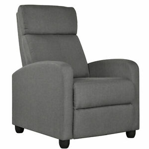 New Single Modern Recliner Chair Reclining Sofa Home Theater Seating Club Chair