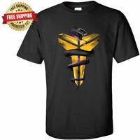 Kobe Bryant Los Angeles Lakers Unisex T-Shirt Black Mamba Snake