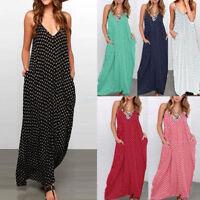 Women's Boho Long Maxi Multi Color Plus Size Cocktail Beach Party Dress Sundress