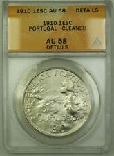 1910 Portugal 1 Escudo KM# 560 Silver Coin ANACS AU-58 Details RJS