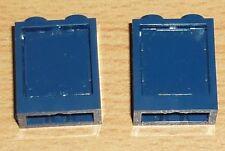 Lego City 2 kleine Fenster 1 x 2 x 2 in dunkel blau