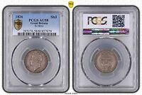 GREAT BRITAIN SILVER 1 SHILLING COIN 1826 YEAR KM#694 GRADING PCGS AU58