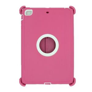For Apple iPad mini 2/3 Case Cover w/(Stand Fits Otterbox Defender) Pink White