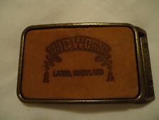 Wild World LARGO MD belt buckle 1981-91 now Six Flags America amusement park