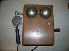 Alter Wand Fernsprecher Holz Telefon ca. 1900-20er Jahre (1)