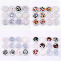Nail Art Glitter Powder Dust for UV Gel Acrylic Manicure Sequins Decoration Tips