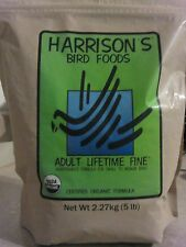 5 lb BAG Bird Food Pellets HARRISONS Adult Lifetime FINE Organic Quaker Conure