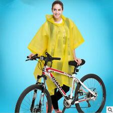 Unisex Bike Outdoor Cycling Rain Cape Poncho Coat Rainproof Waterproof Raincoat