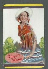 Swap Playing Cards 1 VINT ENG ADVT PLAYERS PLEASE  SPANISH  LADY BARRIBAL  BA5
