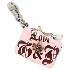 Juicy Couture Charm Love G&P Pave Crown Laptop Silvertone NEW