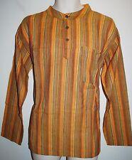 "New Fair Trade Collarless Shirt XL chest to 44"" Hippy Ethnic Surf Yoga Grandad"