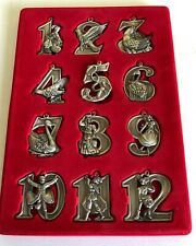Pewter Twelve 12 Days of Christmas Ornaments Home Accents