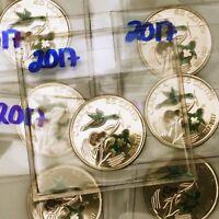 2017 Canada 150 25 Cents Quarter Coin Color UNCIRCULATED Colour #coinsofcanada
