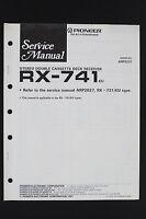 Pioneer rx-741 Original cassette deck Récepteur manuel de service/Amplificateur