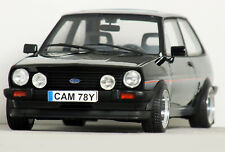 "1:18 OttO ""[MK1] FORD FIESTA XR2"" (Black) MODIFIED TUNING UMBAU Rs turbo Sport"