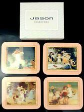 Jason Coasters Set of 4 Victorian Children Pink Yesterday's Child Bar Ware Cork