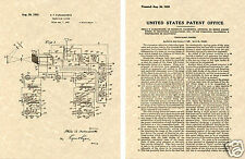 1930 Farnsworth TV US Patent Art Print READY TO FRAME!!!! Vintage Television