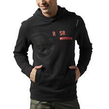 Reebok Men's SRM Icon Pullover Spartan Race Black Sweatshirt A99363 NEW!