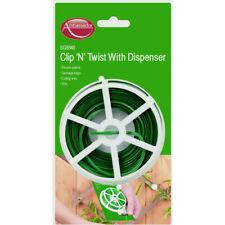 Garden Wire Plastic Coated Cutter Plant Tree Support 30m Shrubs Tie Clip N Twist