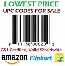 100 UPC EAN Bar Code for Amazon India,Ebay,Flipkart, Amazon USA Genuine