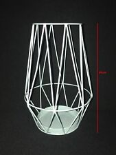 Candle Holder Wire Hurricane Lantern Metal dinner Atmosphere 24cm