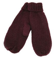 Codello 32098403 Poetry GRUNGE lavorato a maglia guanti rosso bordeaux NUOVO