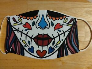 Face Mask Halloween sugar skull Washable Reusable Protection Face Cover UK