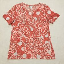 d23320d3270 Christopher   Banks Womens Lace Shirt Orange And White Size M