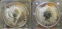 Australia,5 Dollari 1991 kookaburra 1oz Argento Silver Proof in capsula [t86]