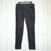 Ann Taylor Loft Gray Corduroy Jeans Pants Size 6 Waist 28 Womens Modern Skinny