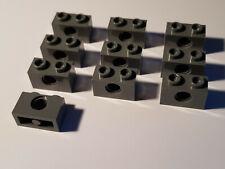 1 x 2 with Hole x 12 LEGO 3700 TK67 TECHNIC BRICK LIGHT GREY