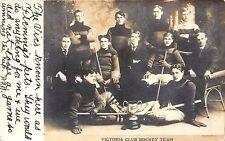 "Exeter Ont. Canada ""Victoria Club"" 1908 Hockey Team Original RPPC Postcard"