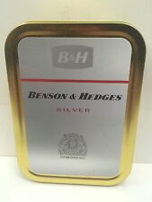 Benson & Hedges Silver Retro Advertising Logo Cigarette Tobacco Storage 2oz Tin