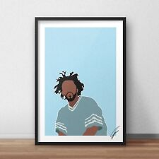J Cole INSPIRED WALL ART Print / Poster Minimal A4 A3 RAP 4 your eyez only